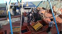 Drama pengejaran kapal Vietnam oleh KRI Bung Tomo di Laut Natuna. (Liputan6.com/Ajang Nurdin)
