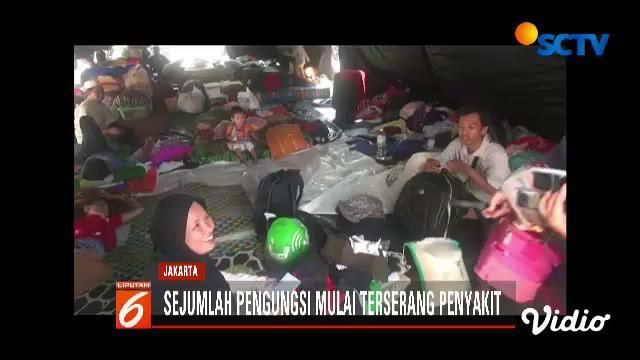 Hingga Senin siang tercatat sudah ada 181 pengungsi yang berobat ke posko kesehatan puskesmas Kecamatan Koja.