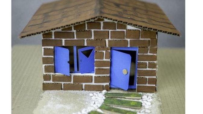 Cara Membuat Miniatur Rumah Dari Kardus Mudah Dan Murah Citizen6 Liputan6 Com