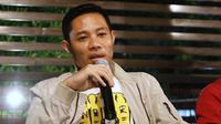 Evan Dimas Darmono saat jumpa pers menjelaskan alasan bergabung dengan Barito Putera. (Bola.com/Aditya Wany)