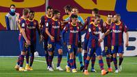 3. Barcelona (124 juta euro) - Sebagai pelatih anyar Barcelona, Ronald Koeman, mendatangkan beberapa pemain baru di Camp Nou pada bursa transfer musim panas ini. Total belanjan Barcelona mencapai 124 juta euro untuk mendatangkangkan Miralem Pjanic, Trincao, Sergino Dest serta Pedri. (AFP/Josep Lago)