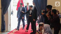 Menteri Luar Negeri RI, Retno Marsudi menerima kunjungan Menteri Luar Negeri Maroko, Nasser Bourita di kantor Kemenlu, Jakarta, Senin (28/10/2019). Pertemuan tersebut membahas hubungan bilateral antara kedua negara. (Liputan6.com/Faizal Fanani)