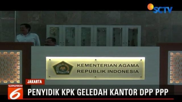 Juru Bicara KPK Febri Diansyah menyatakan, dalam penggeledahan di ruang menteri agama, penyidik mengamankan sejumlah dokumen dan uang senilai ratusan juta rupiah.
