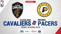 Jadwal NBA, Cleveland Cavaliers Vs Indiana Pacers. (Bola.com/Dody Iryawan)