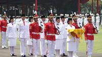 Tim Paskibraka Nasional 2018 yang terdiri dari putra-putri terbaik bangsa yang berasal dari 34 Provinsi di Indonesia mendapat kejutan tabungan Britama.