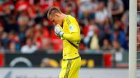 Penjaga gawang Bayer Leverkusen asal Jerman, Bernd Leno. (REUTERS / Ina Fassbender)