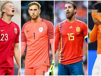 Ada banyak pemain berlabel bintang yang tidak akan kita saksikan penampilannya di Euro 2020. Mereka harus absen membela negaranya dari perhelatan akbar benua biru itu karena berbagai macam alasan. Berikut daftar pemain yang gagal tampil di Piala Eropa kali ini.