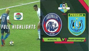 Berita video highlights Gojek Liga 1 2018 bersama Bukalapak antara Arema FC melawan Persela Lamongan yang berakhir dengan skor 1-0, Sabtu (7/7/2018).