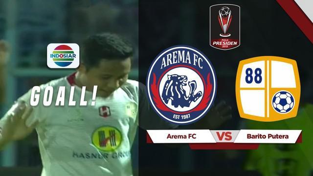 Berita video gol solo run yang dicetak Evan Dimas saat Barito Putera menghadapi Arema FC di Piala Presiden 2019, Senin (5/3/2019).