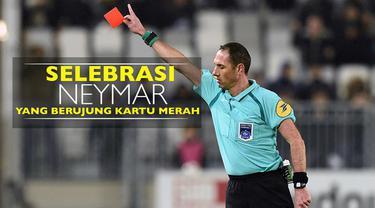 Video selebrasi bintang Barcelona, Neymar, dan empat pesepak bola lainnya yang berujung kartu merah.