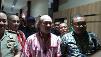 Cucu mantan Presiden Soeharto, Ari Sigit usai diperiksa di Mapolda Jatim (Foto: Liputan6.com/Dian Kurniawan)