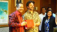 Co-founder Google Sergey Brin dan Menteri Pariwisata Arief Yahya. Foto: Liputan6.com/Agustinus Mario Damar