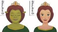 Princess Fiona setelah 'dioperasi' (sumber: Instagram/kawthari3)