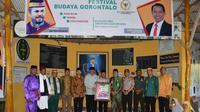 Sosialisasi Empat Pilar MPR hadir di Festival Budaya Gorontalo yang digelar di Taman Wisata Religius Bubohu, Gorontalo.