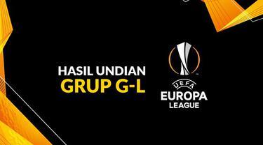 Berita motion grafis hasil undian Liga Europa 2020-2021 Grup G-L. AC Milan tergabung grup neraka.