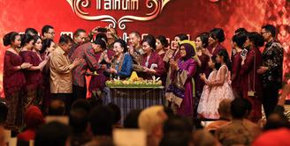 Pendiri PT. Mustika Ratu dan Yayasan Putri Indonesia Mooryati Soedibyo baru saja merayakan ulang tahun usianya yang telah menginjak 90 tahun. (Deki Prayoga/Bintang.com)