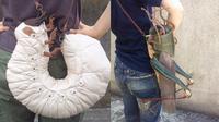 Desainer asal Jepang ini buat bentuk tas tak biasa yaitu dengan bentuk hewan hama atau bugs. (Sumber: Boredpanda)