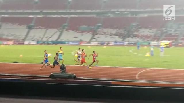 Jakarta Lalu Muhammad Zohri menempati posisi kedelapan pada kualifikasi lari 100 meter atletik Asian Games 2018 di Stadion Utama Gelora Bung Karno, Sabtu (25/8/2018). Ini artinya, ia berhasil lolos ke babak semifinal.