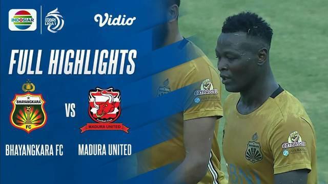 Berita Video, Highlights Pertandingan Bhayangkara FC Vs Madura United pada Sabtu (18/9/2021)