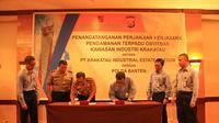 Dengan peningkatan keamanan dan ketertiban diharapkan dapat meningkatkan nilai investasi di Kawasan Industri Krakatau I dan II.