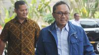 Ketua Umum PAN, Zulkifli Hasan tiba untuk menjalani pemeriksaan di Gedung KPK, Jakarta, Selasa (18/9). Zulkifli diperiksa dalam kapasitasnya sebagai Wakil Ketua Majelis Pembina Persatuan Tarbiyah Islamiyah (Perti). (Merdeka.com/Dwi Narwoko)