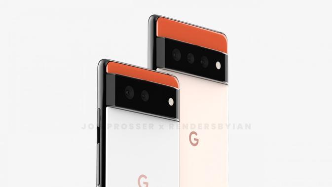 Bocoran gambar render Google Pixel 6. (Doc: Jon Prosser/ Rendersbyian)