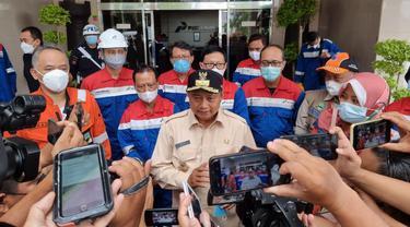 Wakil Gubernur Jawa Barat Uu Ruzhanul Ulum berkunjung ke area Kilang Balongan, Selasa (30/3/2021). (Dok Pertamina)