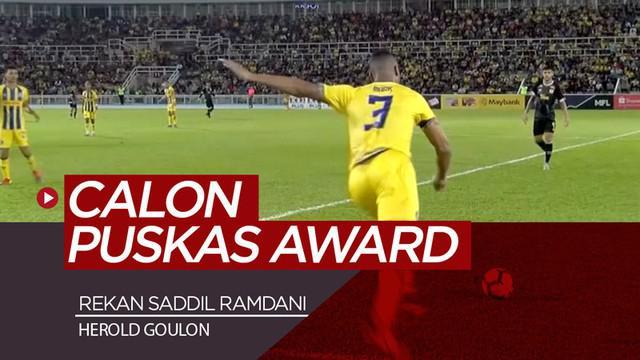 Berita video gol spektakuler rekan setim Saddil Ramdani di Pahang FA, Herold Goulon, di Piala FA Malaysia 2019. Goulon bisa saja meraih Puskas Award karena gol sensasional tersebut.