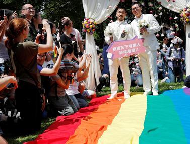 Pertama di Asia, Taiwan Gelar Pernikahan Sejenis