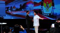 Jokowi dan Prabowo Subianto. (Liputan6.com/Johan Tallo)