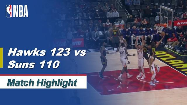 Berita Video Highlights NBA 2019-2020, Atlanta Hawk Vs Phoenix Suns 123-110