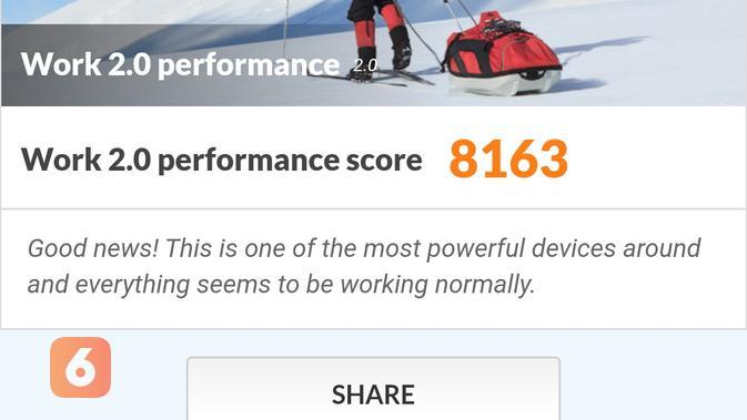Pengujian performa work Redmi Note 9 Pro menggunakan PC Mark (Liputan6.com/ Agustin Setyo W)