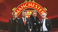 Manchester United - Ole Gunnar Solskjaer, Louis van Gaal, David Moyes, Jose Mourinho (Bola.com/Adreanus Titus)