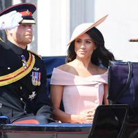 Pangeran Harry terlihat hadir bersama dengan sang istri, Meghan Markle. (Doug Peters/PA Images/INSTARimages.com/Cosmopolitan)
