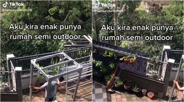 Viral Video Susahnya Punya Rumah Semi Outdoor, Sering Dapat Tamu yang Bikin Rusuh