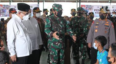 Panglima TNI dan Kapolri Tinjau Vaksinasi di Pondok Pesantren