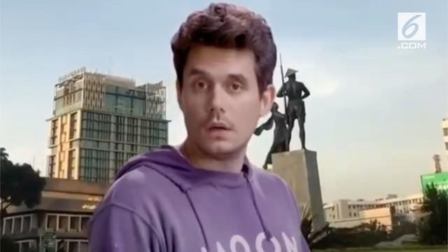 Warganet dihebohkan dengan adanya video John Mayer yang sedang berjoget dengan latar belakang Monas.