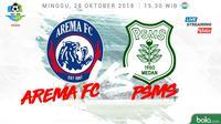 Liga 1 2018 Arema FC Vs PSMS Medan (Bola.com/Adreanus Titus)