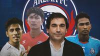 Arema FC - Eduardo Almeida, Hanif Sjahbandi, Bagas Adi, Ahmad Alfarizi (Bola.com/Adreanus Titus)