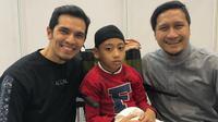 Adrian Maulana, Naja, dan Arie Untung. (dok. Instagram @adrianmaulana/https://www.instagram.com/p/Bx44VOdl-Rl/Putu Elmira)