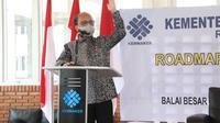 Sekretaris Jenderal Kemnaker, Anwar Sanusi, dalam sosialisasi Roadmap Reformasi Birokrasi di BBPLK Medan, Sumatera Utara.