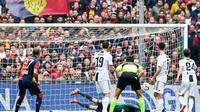 Genoa sukses menundukkan Juventus 2-0 di Stadion Luigi Ferraris dalam lanjutan Liga Italia pekan ke-28, Minggu (17/3/2019) (Foto: Simone Arveda/ANSA via AP)