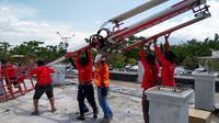 Upaya pemulihan jaringan Telkomsel di Sulawesi Tengah usai gempa (sumber: istimewa)