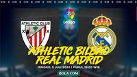 La Liga - Athletic Bilbao Vs Real Madrid (Bola.com/Adreanus Titus)