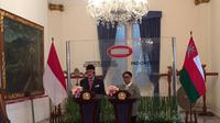 Selain membahas masalah kerja sama ekonomi, Menlu Retno juga menekankan bahwa Indonesia akan selalu memperjuangkan kemerdekaan Palestina (Liputan6.com/Teddy Tri Setio Berty)