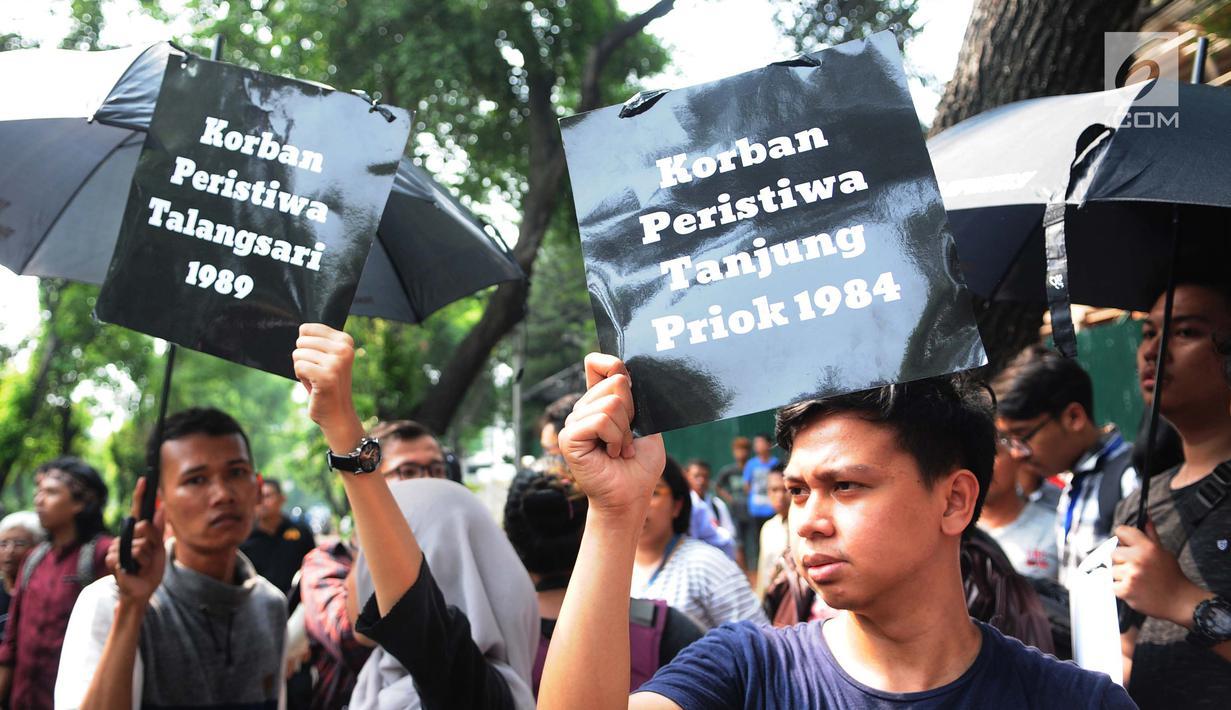 Foto Aktivis Tuntut Penyelesaian Kasus Pelanggaran Ham Di Indonesia News Liputan6 Com