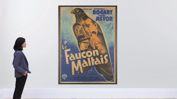 Poster film The Maltese Falcon (1941). Dok: Sotheby's