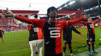 Gelandang Muda Rennes, Eduardo Camavinga. (AFP/JEAN-FRANCOIS MONIER)