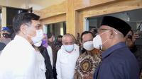 Menteri Koordinato Bidang Kemaritiman dan Ivestasi Luhut Binsar Pandjaitan menggelar rapat koordinasi pengembangan wilayah dan percepatan infrastruktur provinsi Maluku Utara. (Ist)