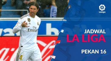 Berita video jadwal La Liga 2019-2020 pekan ke-16. Real Madrid ditantang Espanyol, Sabtu (7/12/2019) di Santiago Bernabeu, Madrid.